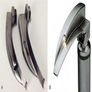 Macintosh Type Disposable Fibre Optic Laryngoscope Blade (Plastic Heel, SS Spatula)