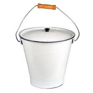 Enamel Pail / Bucket With Lid