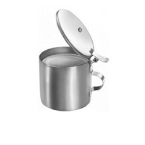 Sputum Mug With Cover - Stainless Steel