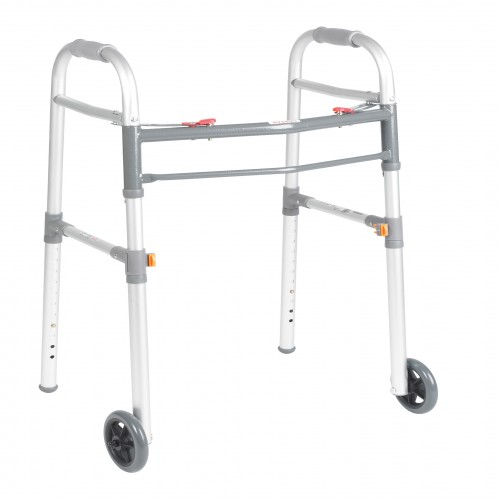 Walker Foldable With Two Wheels