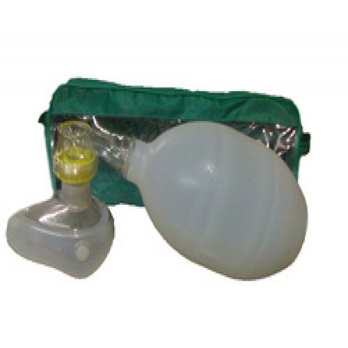 Artificial Resuscitator (Ambu Type Bag), Silicone, Autoclavable - Deluxe Quality (100% Latex Free.)