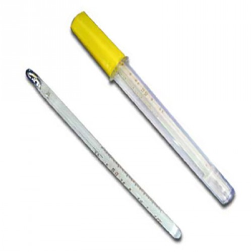 Mercury Thermometer Clinical, Prismatic, Dual Scale, Economy Model